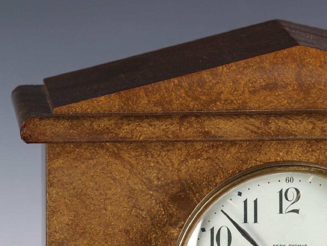 A SETH THOMAS ADAMANTINE FINISH MANTEL CLOCK - 2