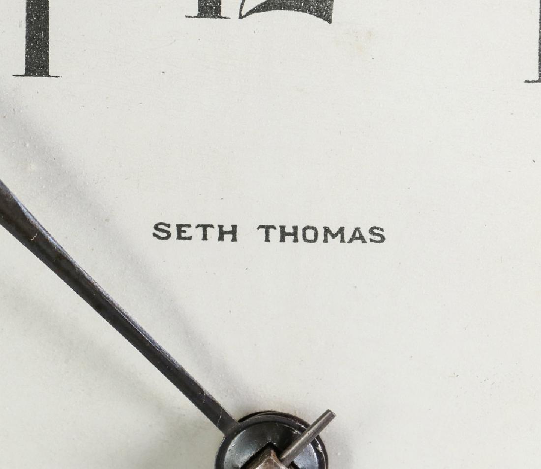 A SETH THOMAS ADAMANTINE FINISH MANTEL CLOCK - 7