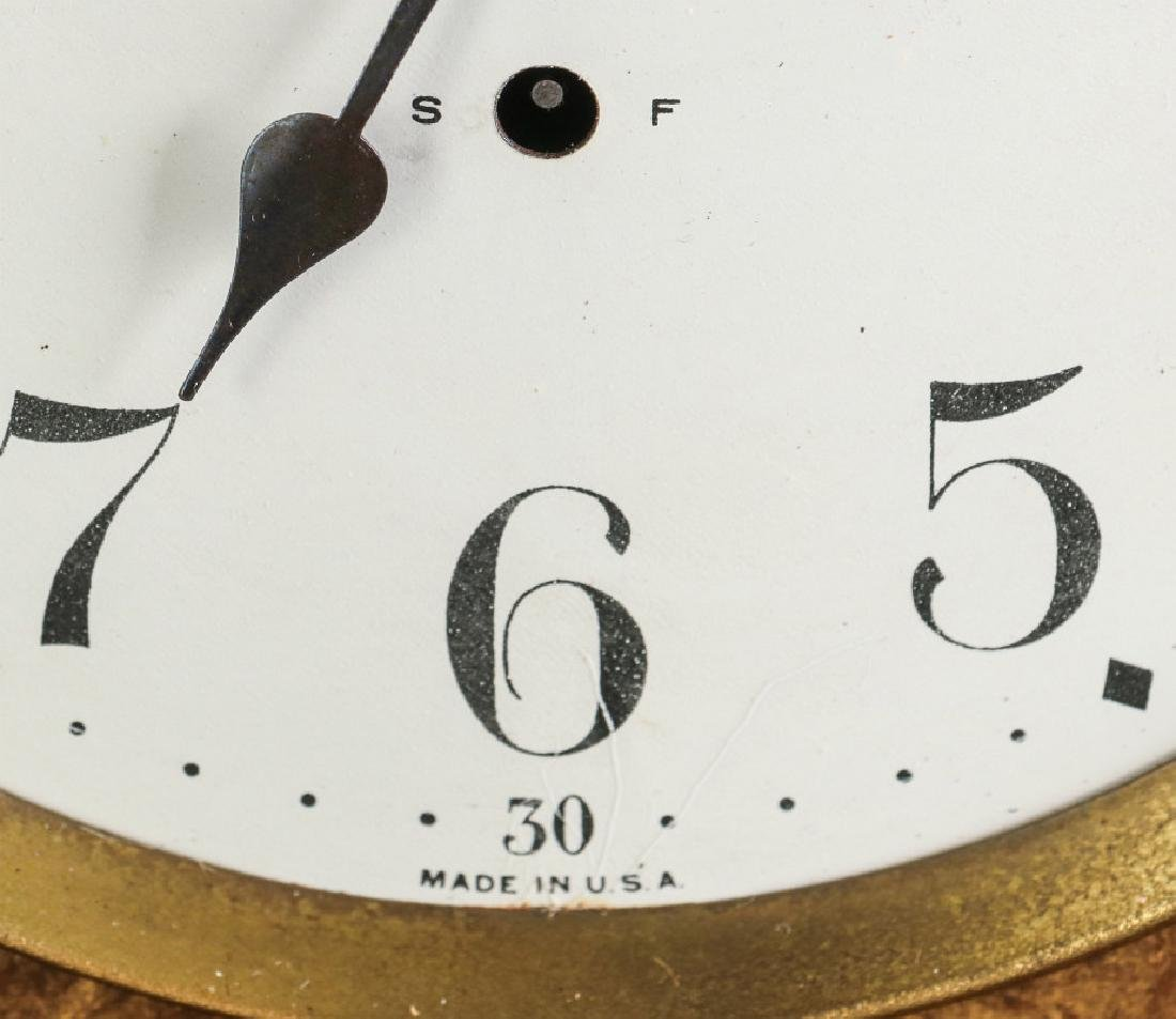 A SETH THOMAS ADAMANTINE FINISH MANTEL CLOCK - 8