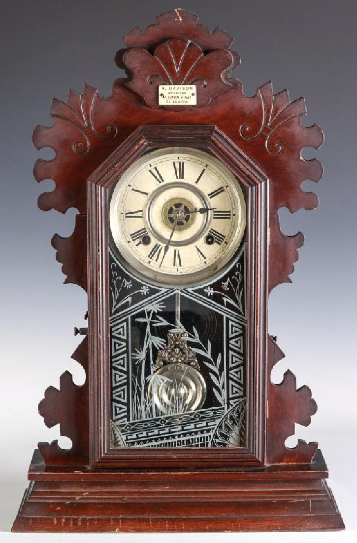 AN ANSONIA 'BEAVER' MODEL ORNATE PARLOR CLOCK