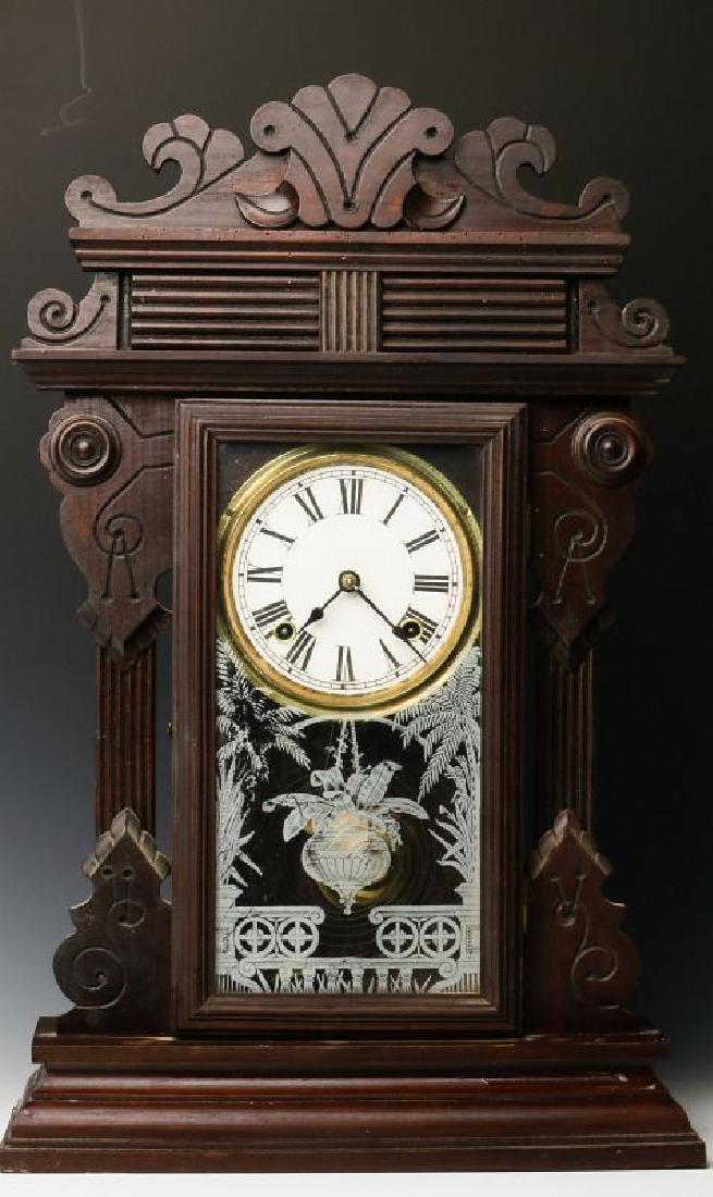 A PORTUGUESE MADE VICTORIAN PARLOR CLOCK