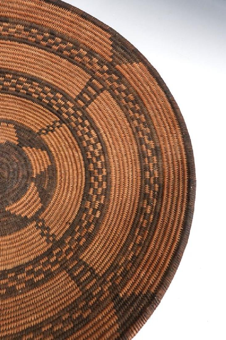 A GOOD EARLY 20TH C PIMA INDIAN BASKETRY BOWL - 7