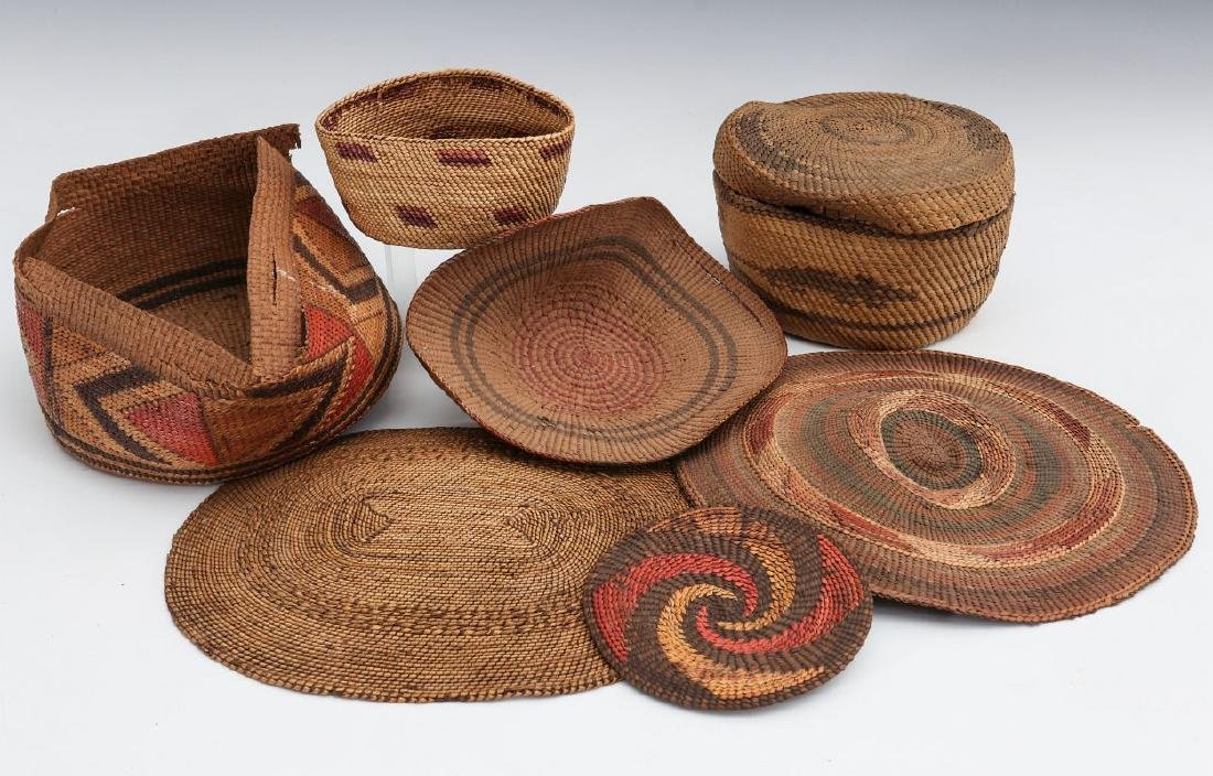 A COLLECTION OF NORTHWEST COAST BASKETRY