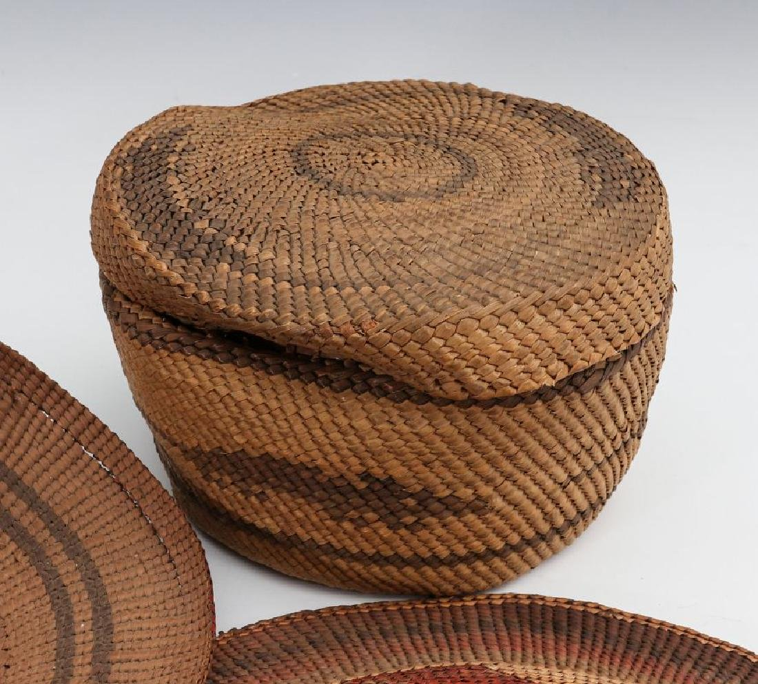 A COLLECTION OF NORTHWEST COAST BASKETRY - 4