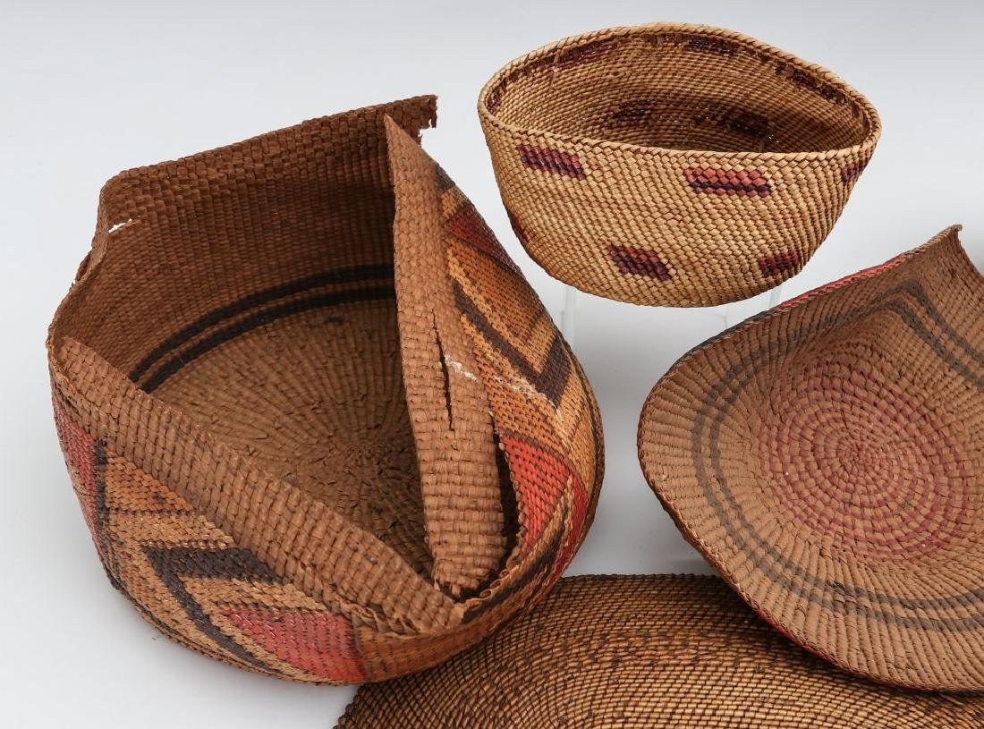 A COLLECTION OF NORTHWEST COAST BASKETRY - 5