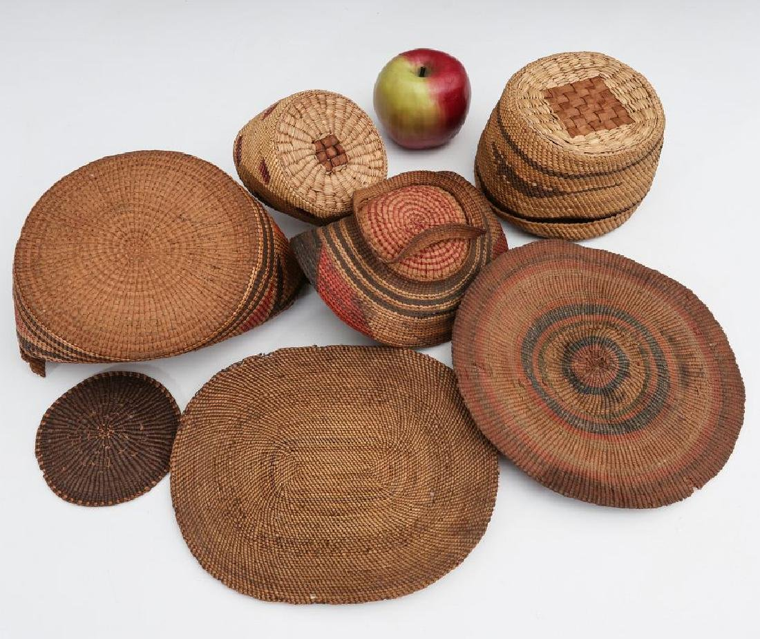A COLLECTION OF NORTHWEST COAST BASKETRY - 6