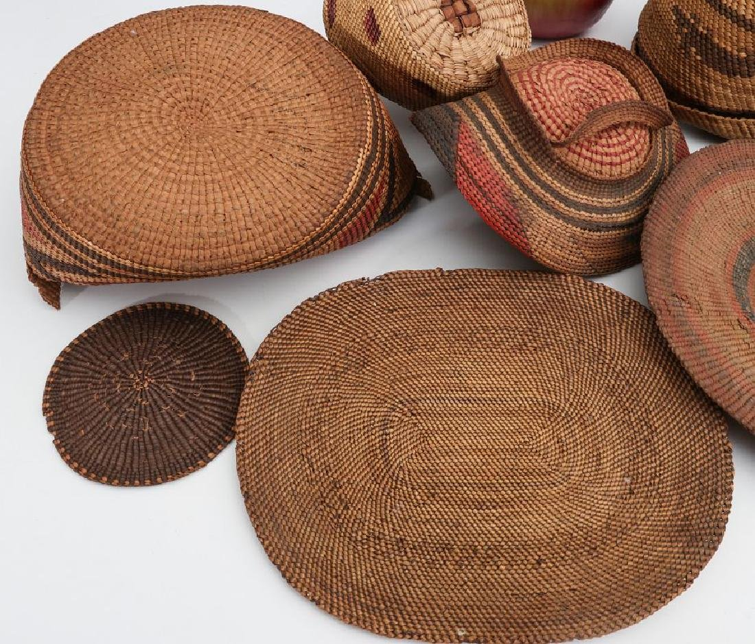 A COLLECTION OF NORTHWEST COAST BASKETRY - 7