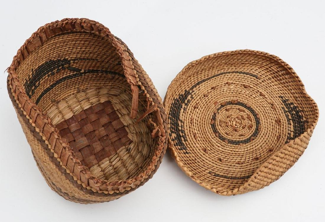 A COLLECTION OF NORTHWEST COAST BASKETRY - 9