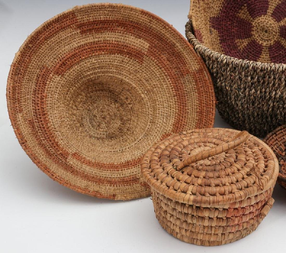 A COLLECTION OF NATIVE MADE BASKETRY - 2