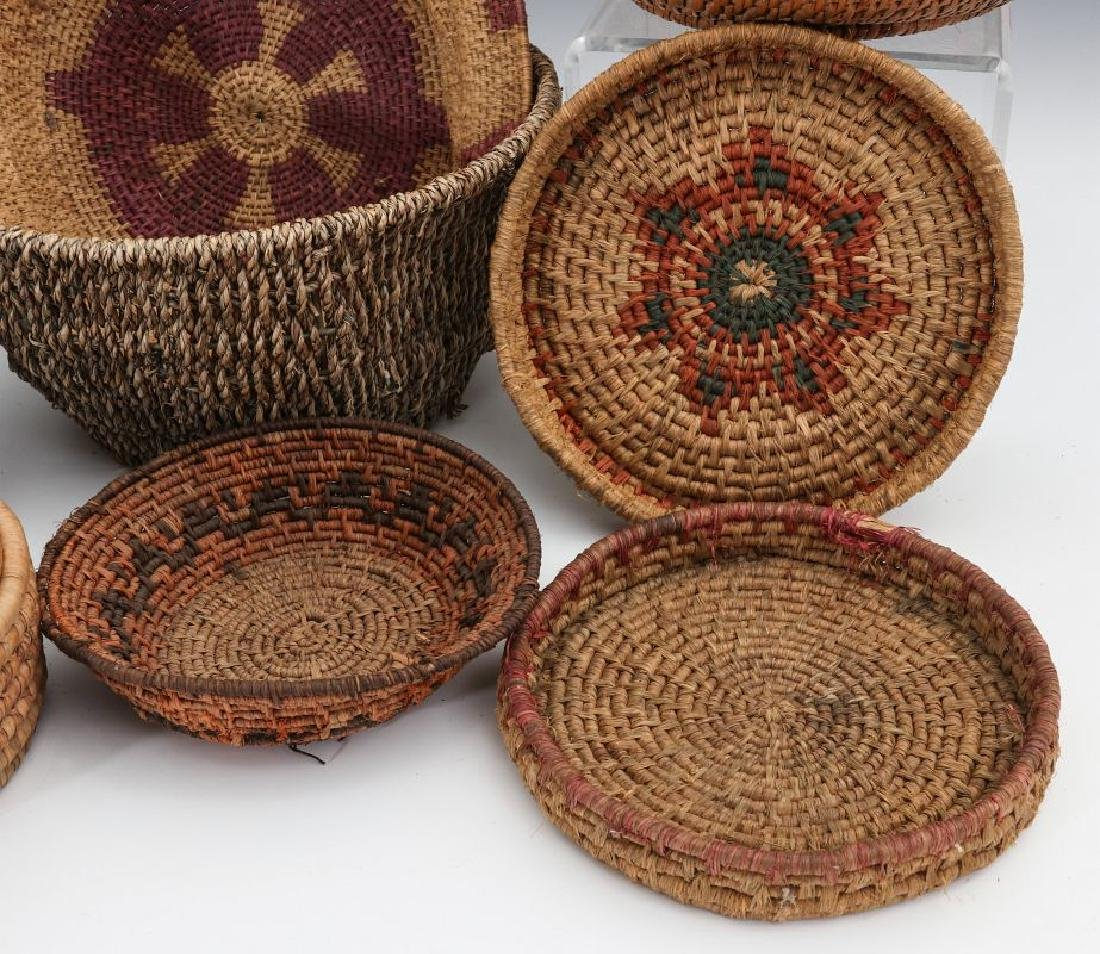 A COLLECTION OF NATIVE MADE BASKETRY - 3