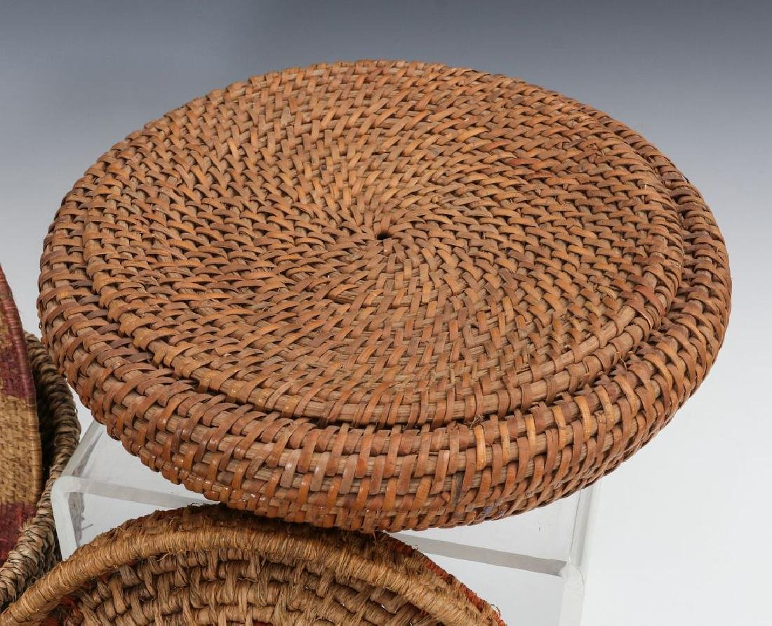 A COLLECTION OF NATIVE MADE BASKETRY - 4