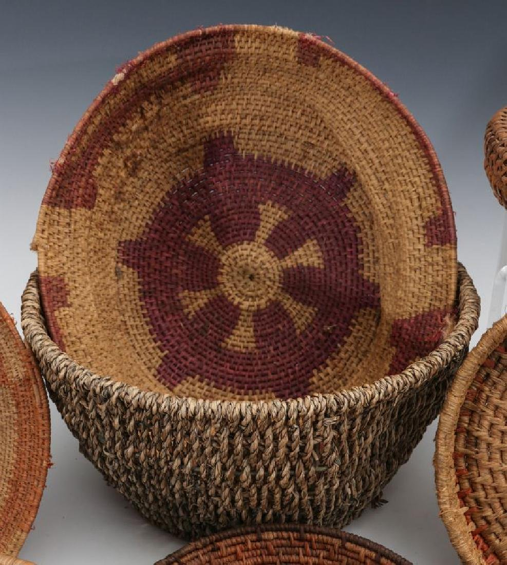 A COLLECTION OF NATIVE MADE BASKETRY - 5