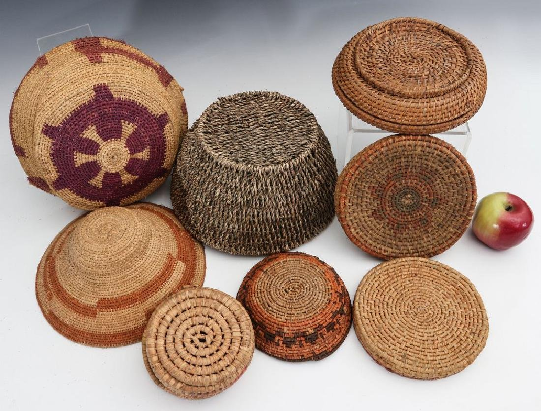 A COLLECTION OF NATIVE MADE BASKETRY - 6