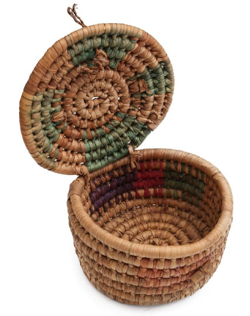 A COLLECTION OF NATIVE MADE BASKETRY - 7