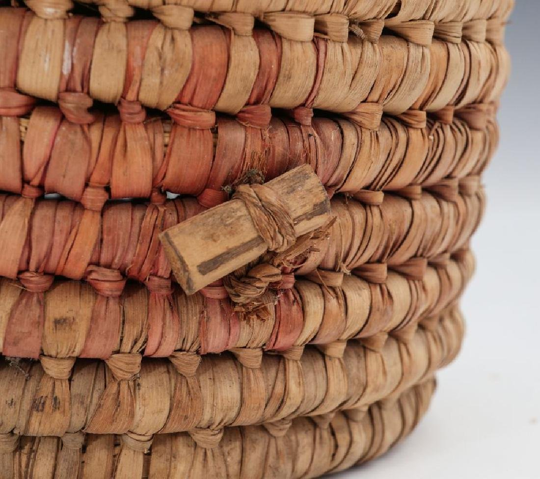 A COLLECTION OF NATIVE MADE BASKETRY - 8