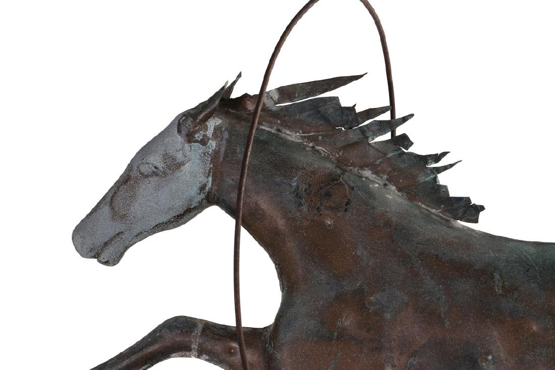 A 19TH CENTURY MOLDED COPPER WEATHERVANE ATTR A.L - 3
