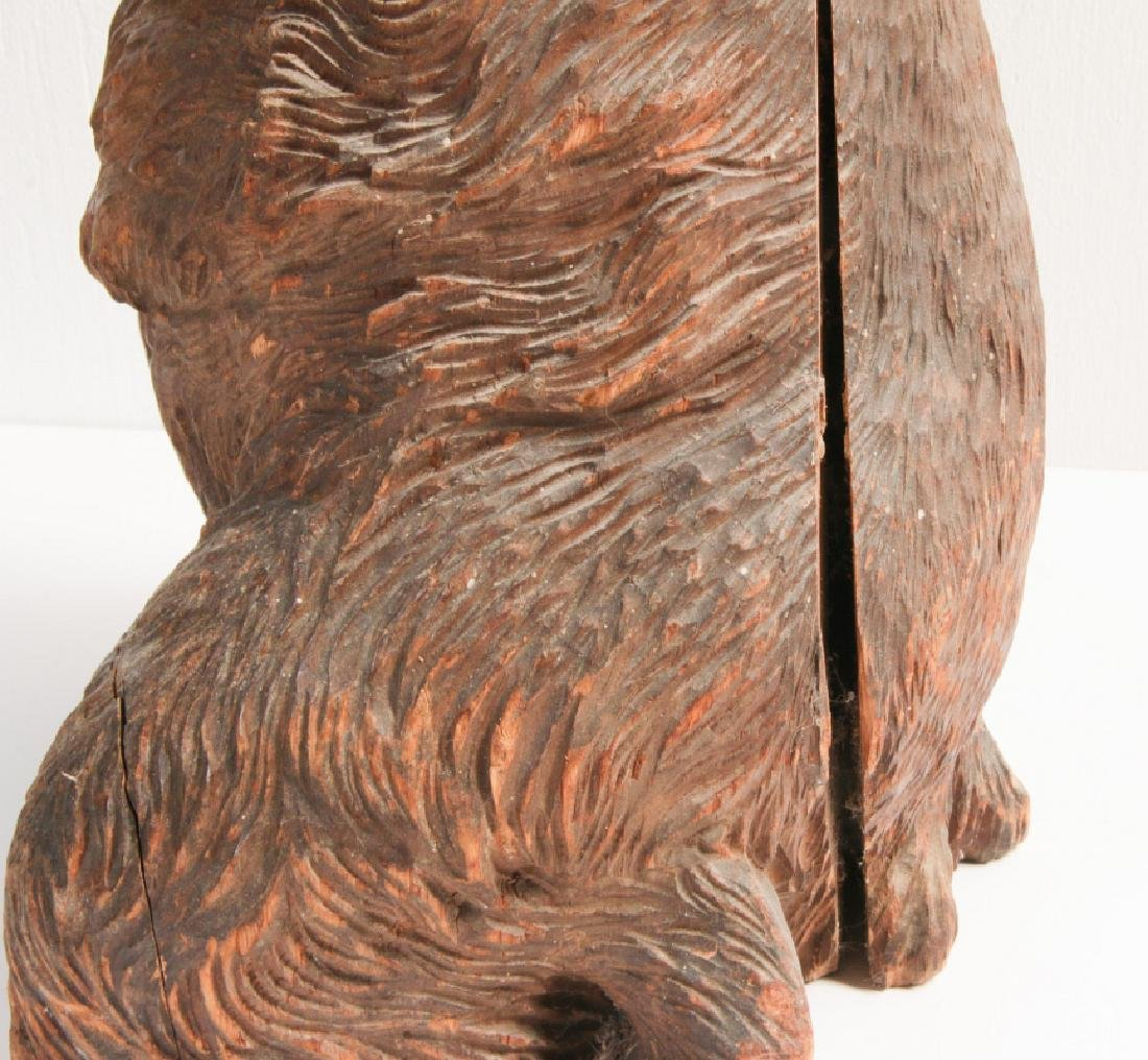 A 19TH CENTURY BLACK FOREST CARVED WOOD BEAR STAND - 7