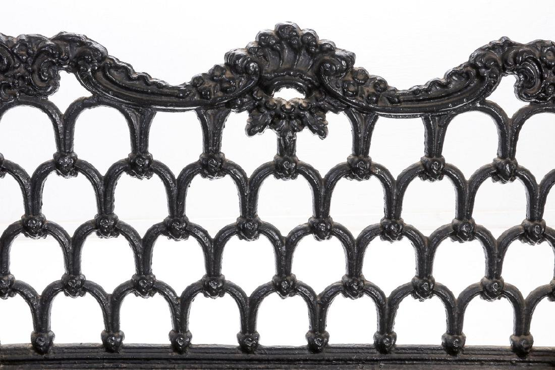 A 'WHITE HOUSE ROSE GARDEN' PATTERN IRON BENCH - 6