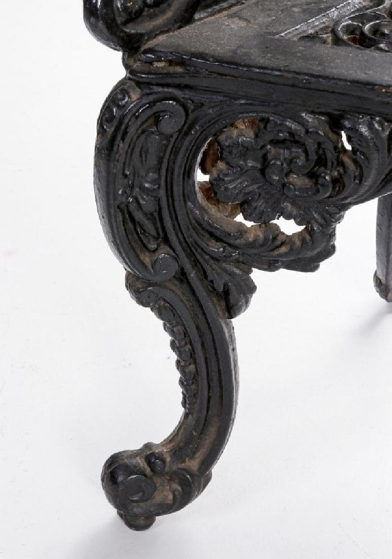 A 'WHITE HOUSE ROSE GARDEN' PATTERN IRON BENCH - 7