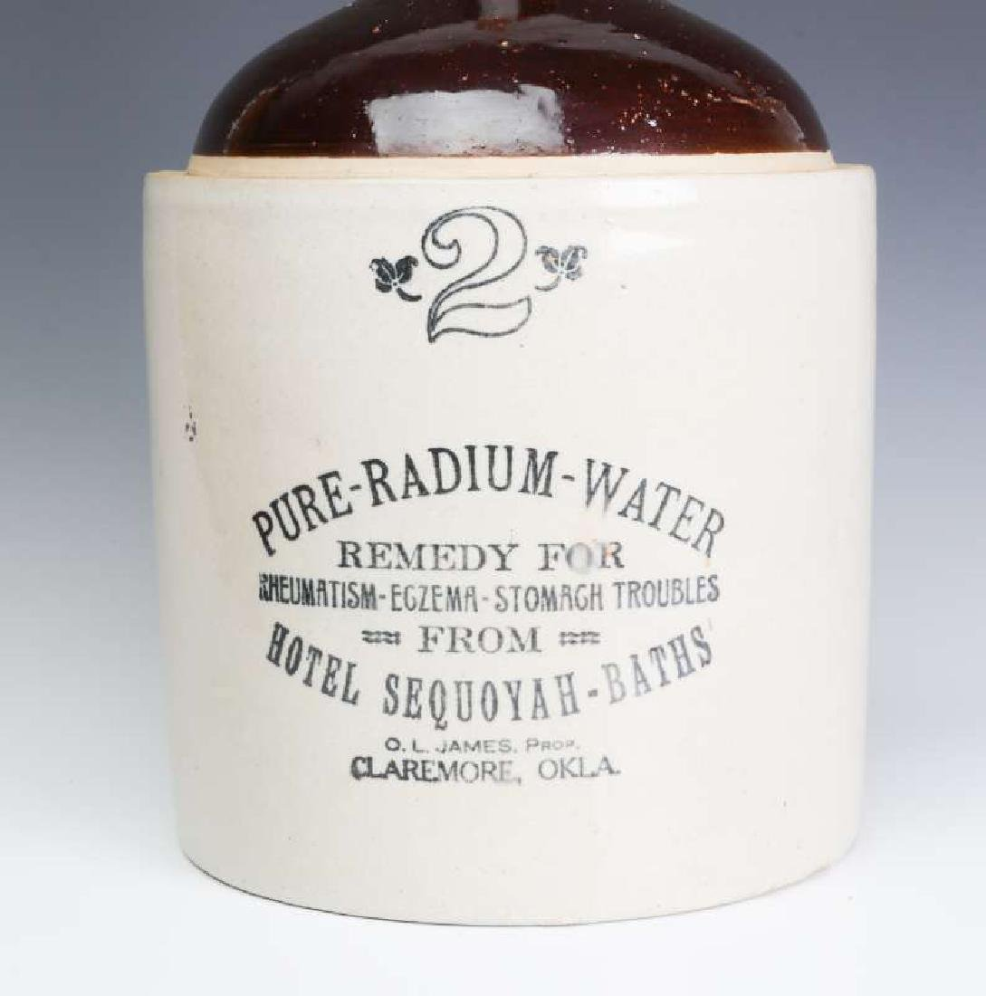 A SCARCE RADIUM WATER HOTEL SEQUOYAH ADVTG JUG - 2