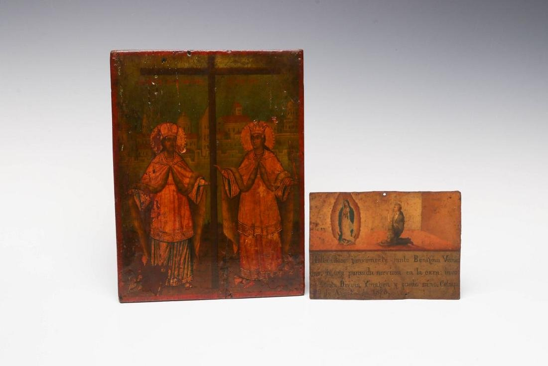TWO 19TH CENTURY ECCLESIASTICAL PAINTINGS
