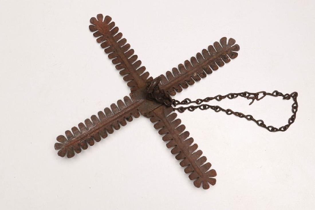 A RARE ANTIQUE COUNTRY STORE BUGGY WHIP HOLDER