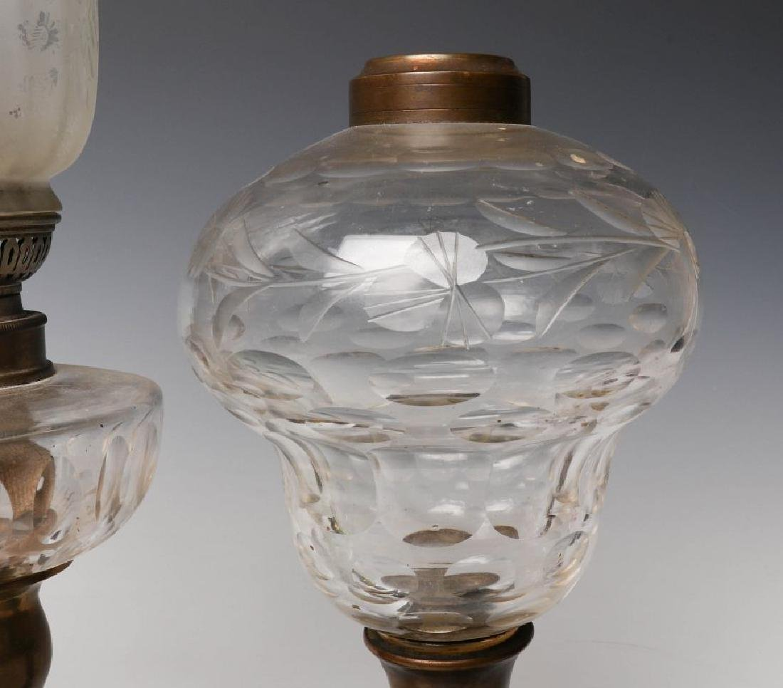 HEART MOTIF AND OTHER 19TH CENTURY FLUID LAMPS - 8