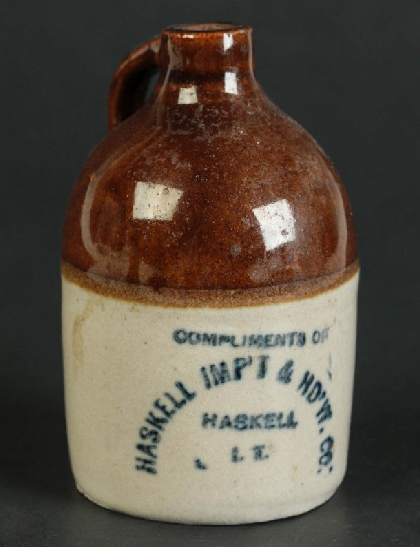 'HASKELL IMP'T & HD'W CO.' INDIAN TERRITORY JUG
