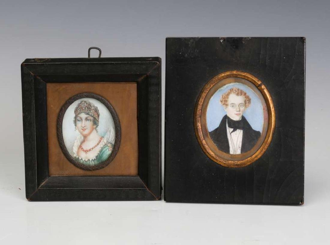TWO 19TH CENTURY MINIATURE PORTRAIT PAINTINGS - 2