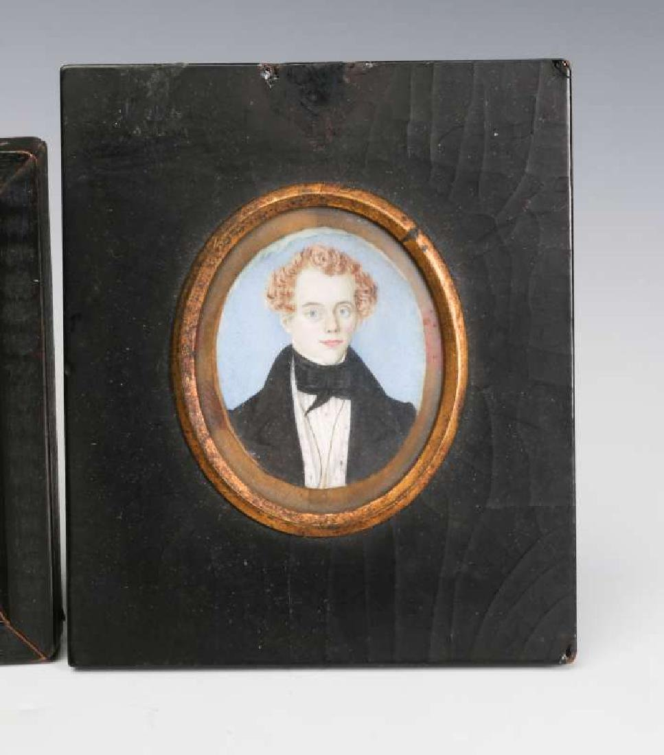 TWO 19TH CENTURY MINIATURE PORTRAIT PAINTINGS - 3