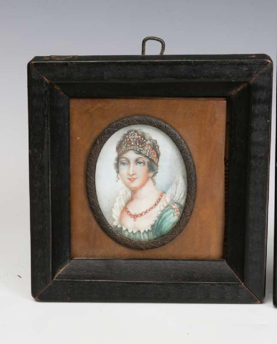 TWO 19TH CENTURY MINIATURE PORTRAIT PAINTINGS - 4