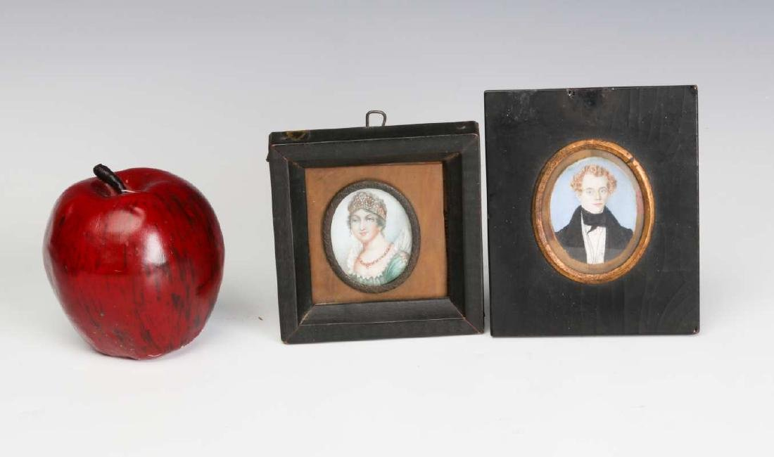 TWO 19TH CENTURY MINIATURE PORTRAIT PAINTINGS - 5