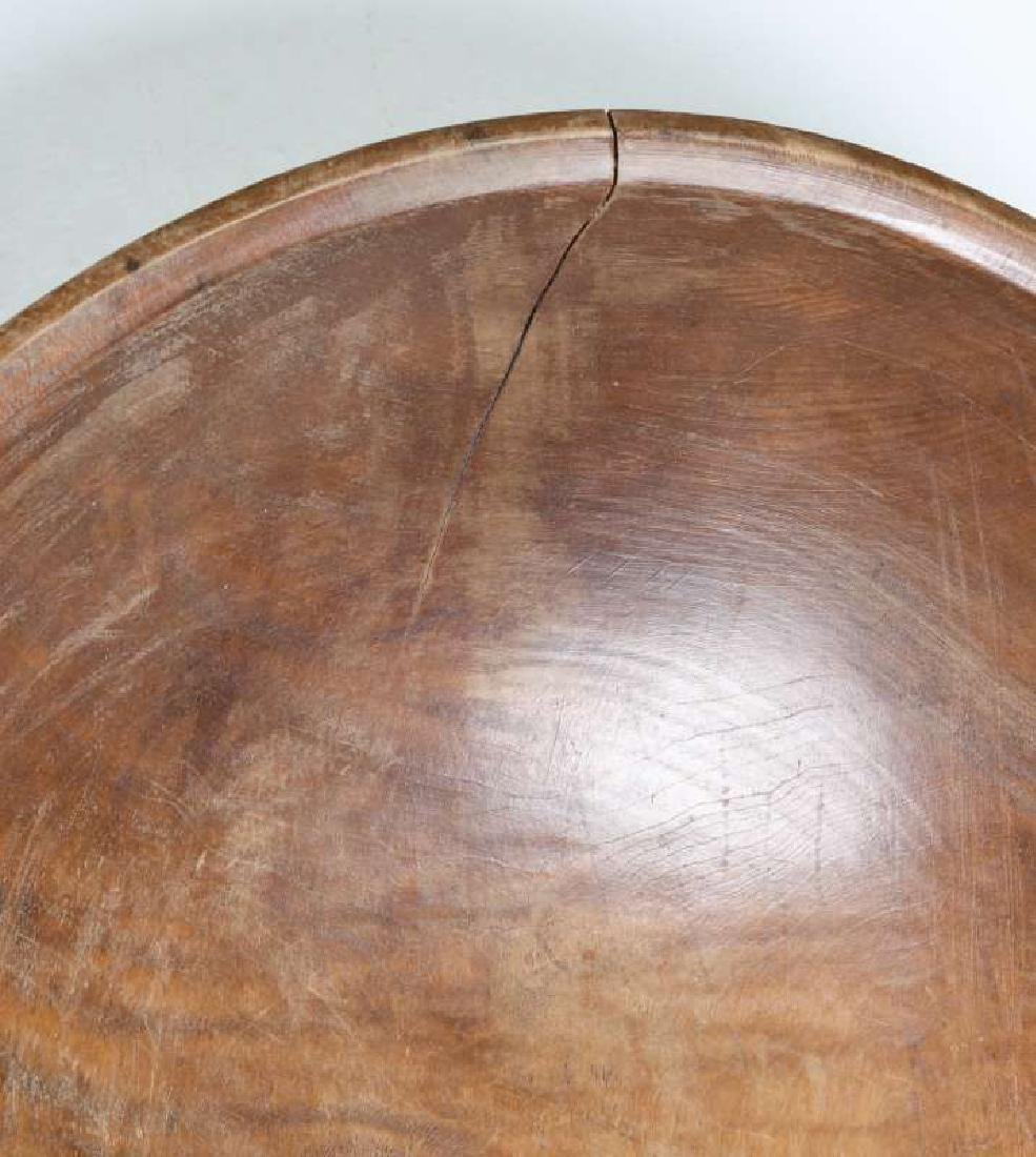 A LARGE 19TH CENTURY AMERICAN TIGER MAPLE DOUGH BOWL - 5