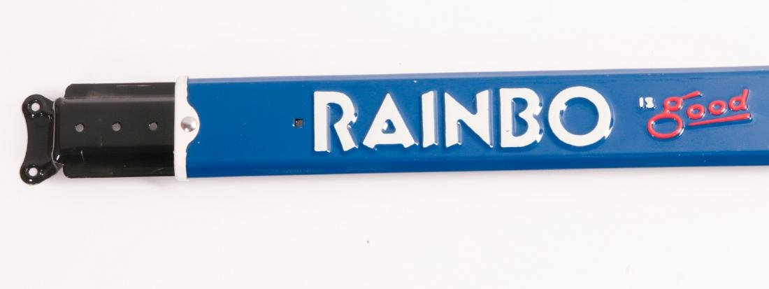 A NEAR MINT RAINBO BREAD ADVERTISING DOOR PUSH - 3