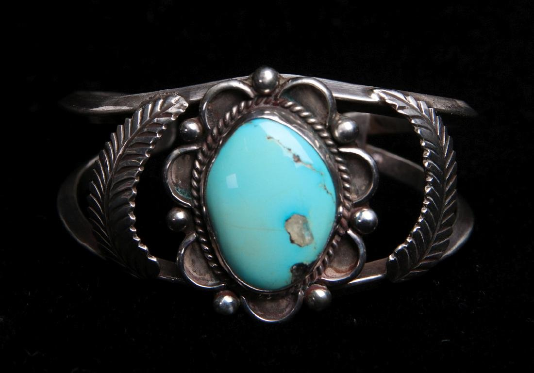 HARRY R. YAZZIE (20TH/21ST C) NAVAJO CUFF BRACELET