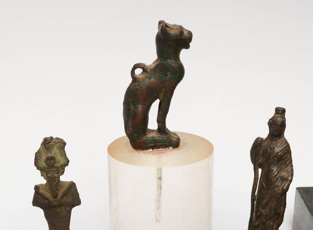 EIGHT BRONZE AND STONE ARTIFACTS OF EGYPTIAN MOTIF - 2
