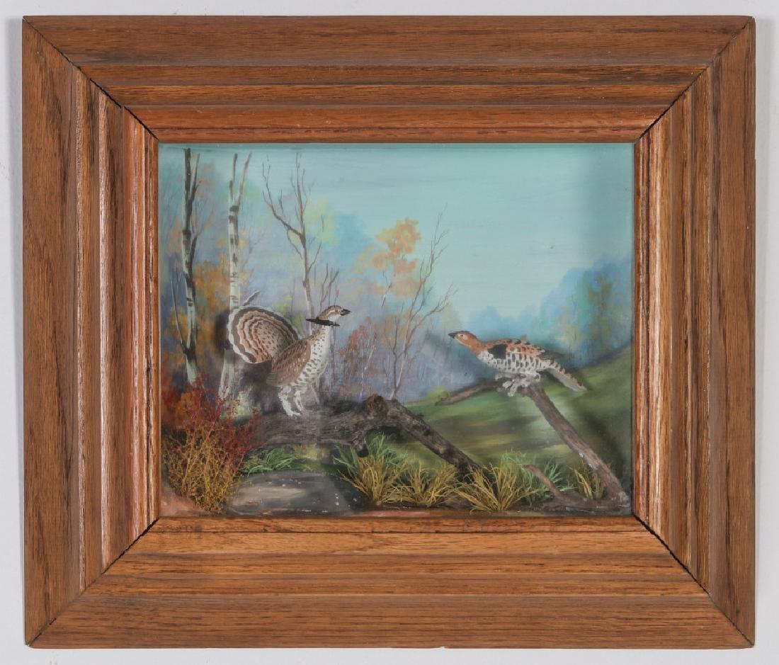 A FOLK ART DIORAMA BY R.G. RODELL - RUFFED GROUSE - 2