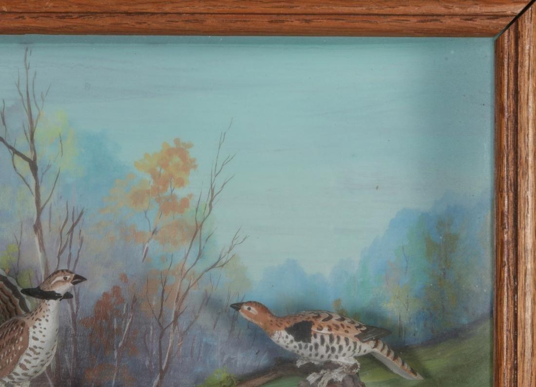 A FOLK ART DIORAMA BY R.G. RODELL - RUFFED GROUSE - 4