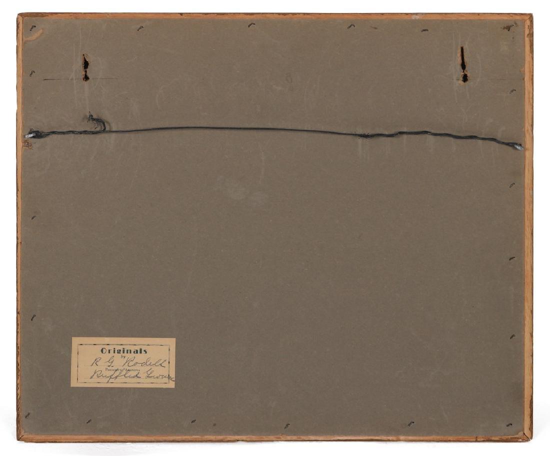 A FOLK ART DIORAMA BY R.G. RODELL - RUFFED GROUSE - 7