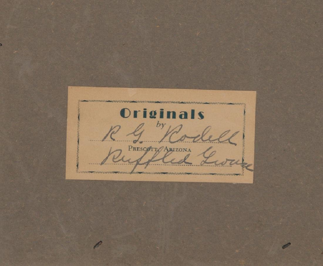 A FOLK ART DIORAMA BY R.G. RODELL - RUFFED GROUSE - 8