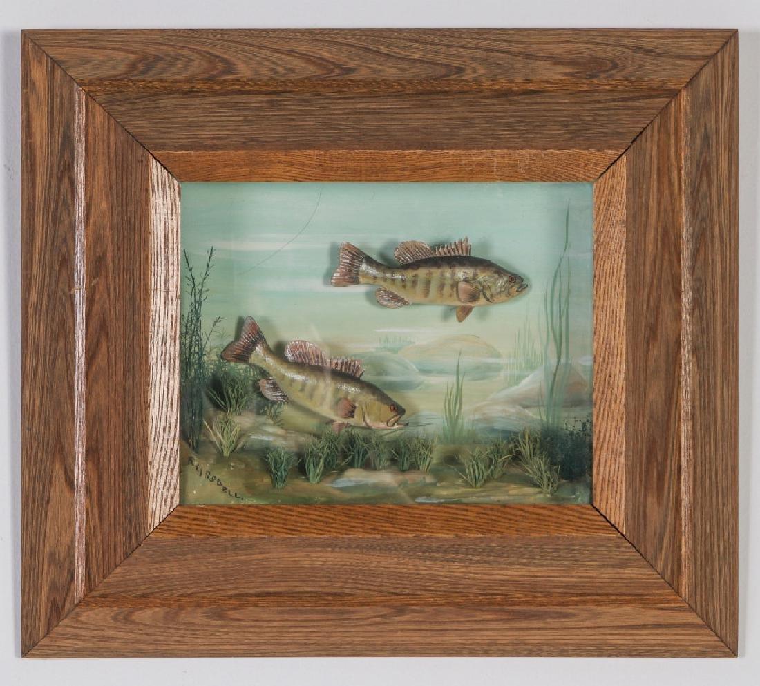 FOLK ART DIORAMA BY R.G. RODELL - LARGEMOUTH BASS - 2
