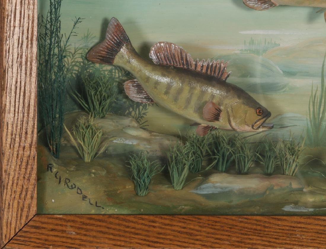FOLK ART DIORAMA BY R.G. RODELL - LARGEMOUTH BASS - 3