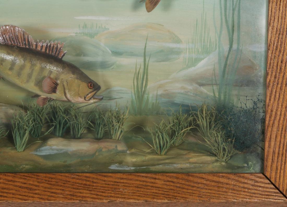 FOLK ART DIORAMA BY R.G. RODELL - LARGEMOUTH BASS - 6