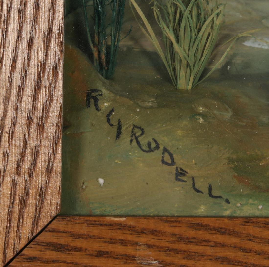 FOLK ART DIORAMA BY R.G. RODELL - LARGEMOUTH BASS - 7