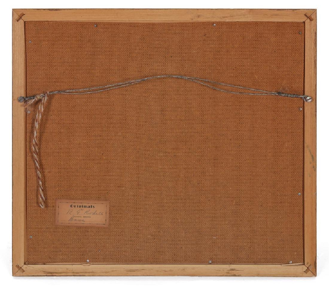 FOLK ART DIORAMA BY R.G. RODELL - LARGEMOUTH BASS - 8