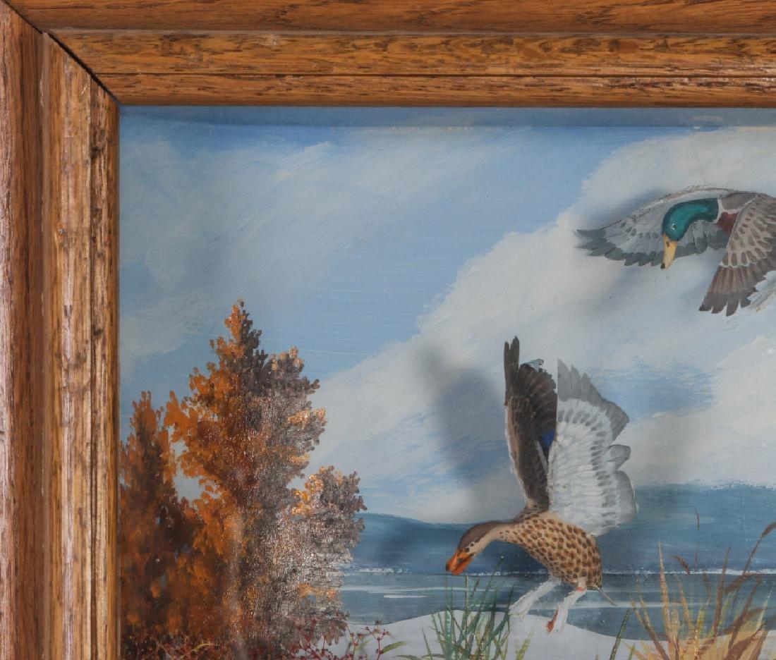 A FOLK ART DIORAMA BY R.G. RODELL - MALLARD DUCKS - 3