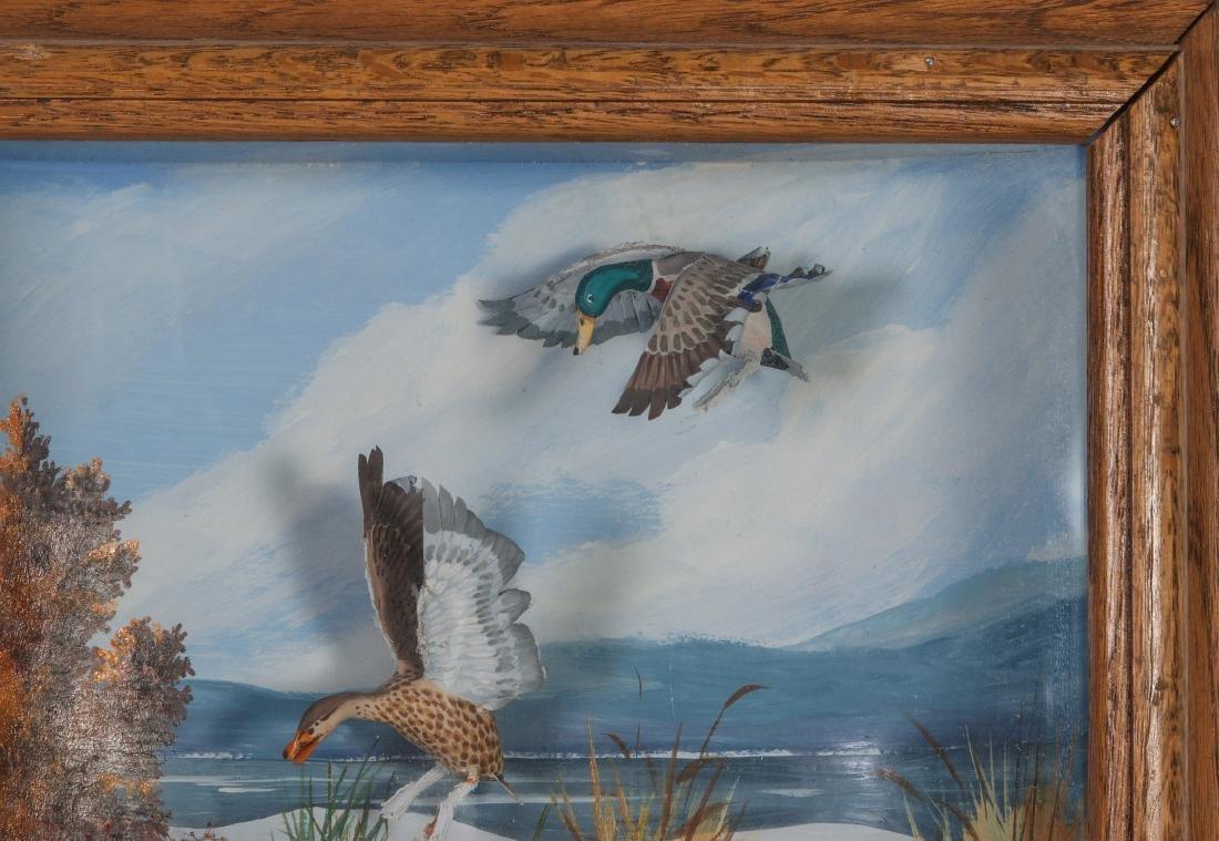 A FOLK ART DIORAMA BY R.G. RODELL - MALLARD DUCKS - 4