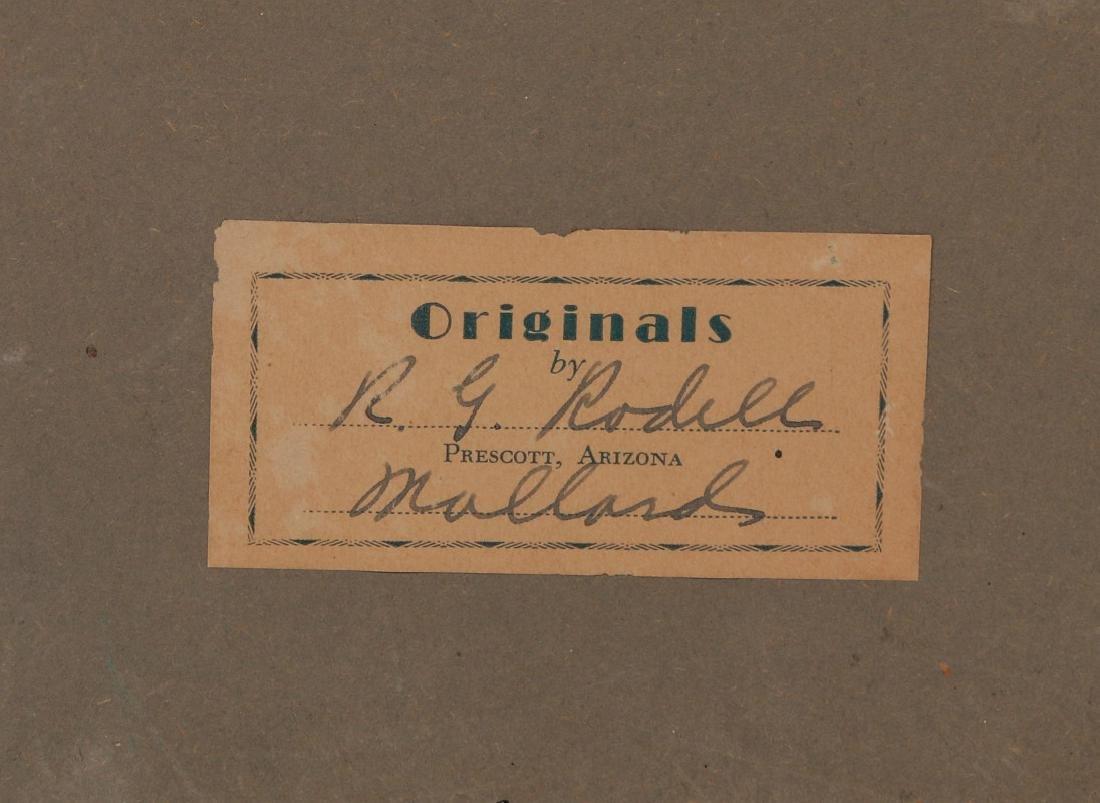 A FOLK ART DIORAMA BY R.G. RODELL - MALLARD DUCKS - 8
