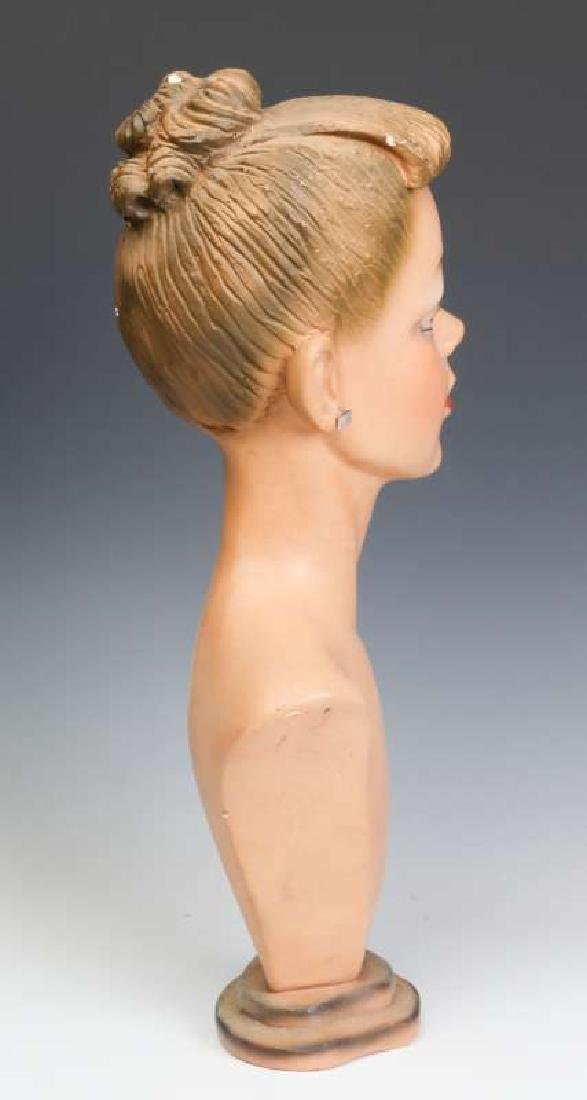 A GOOD C. 1940 DEPT STORE MANNEQUIN HEAD DISPLAY - 4