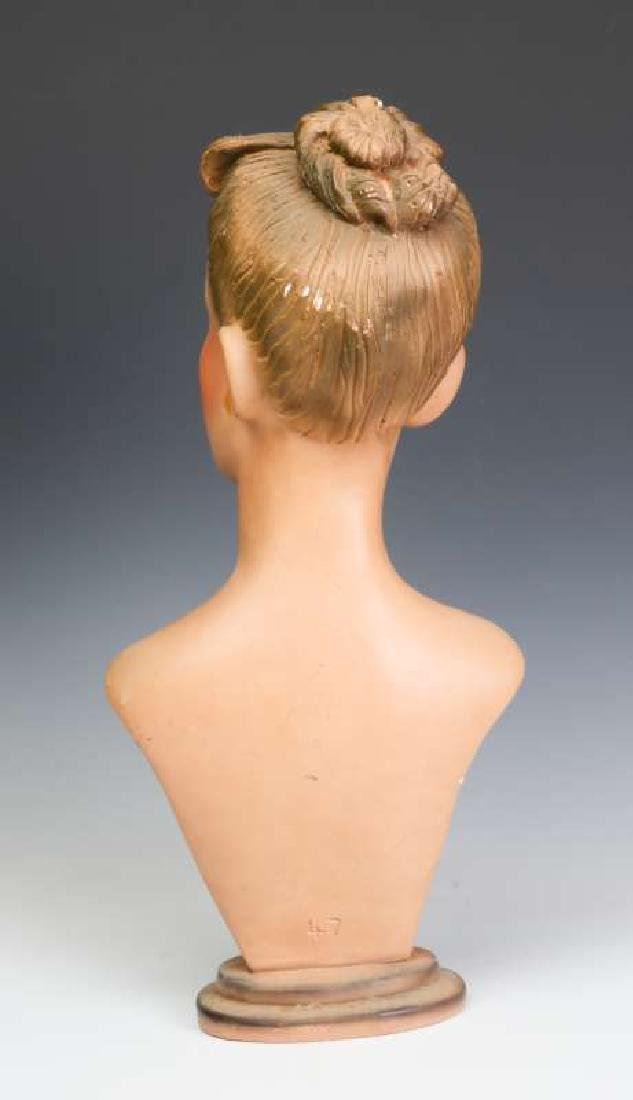 A GOOD C. 1940 DEPT STORE MANNEQUIN HEAD DISPLAY - 5